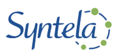 syntela logo on white background